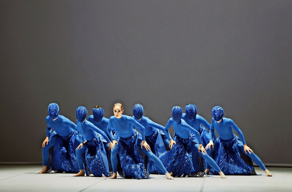 """Aufbruch, der unter die Haut geht: Szene aus Nanine Linnings """"Revolt"""" mit Angelina Zuccarini Foto: Stuttgarter Ballett"""