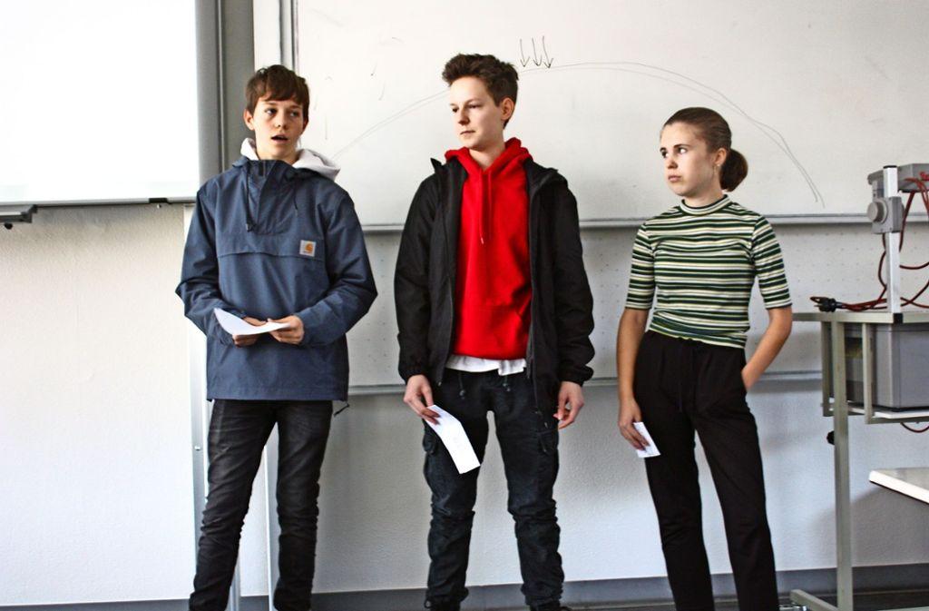 Paul, Miland und Lyn haben sich mit der NS-Zeit auseinandergesetzt. Foto: Christoph Kutzer