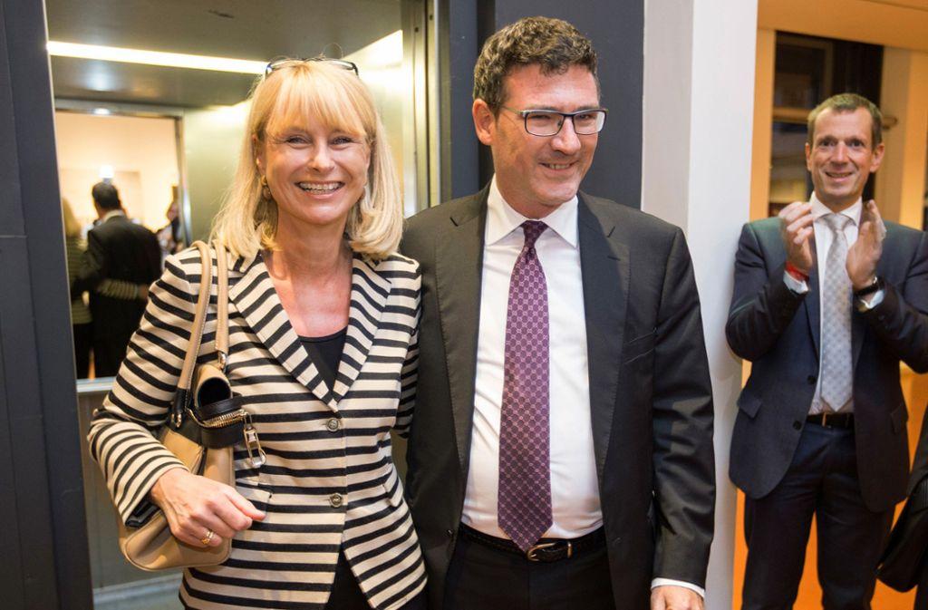 Karin Maag, Stefan Kaufmann und Alexander Kotz (von links): Alle drei halten sich ihre Chancen auf eine OB-Kandidatur im kommenden Jahr offen. Foto: Michael Steinert