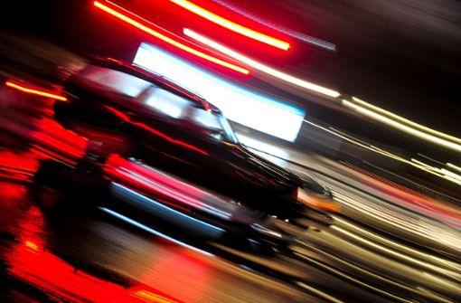 Autorennen durch die Innenstadt von Kornwestheim