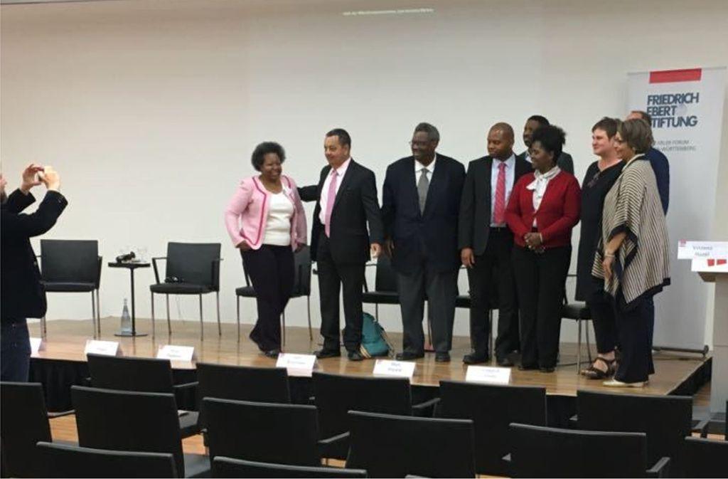 Gruppenbild in Stuttgart: die US-Delegation im Haus der Katholischen Kirche Foto: Friedrich Remmers