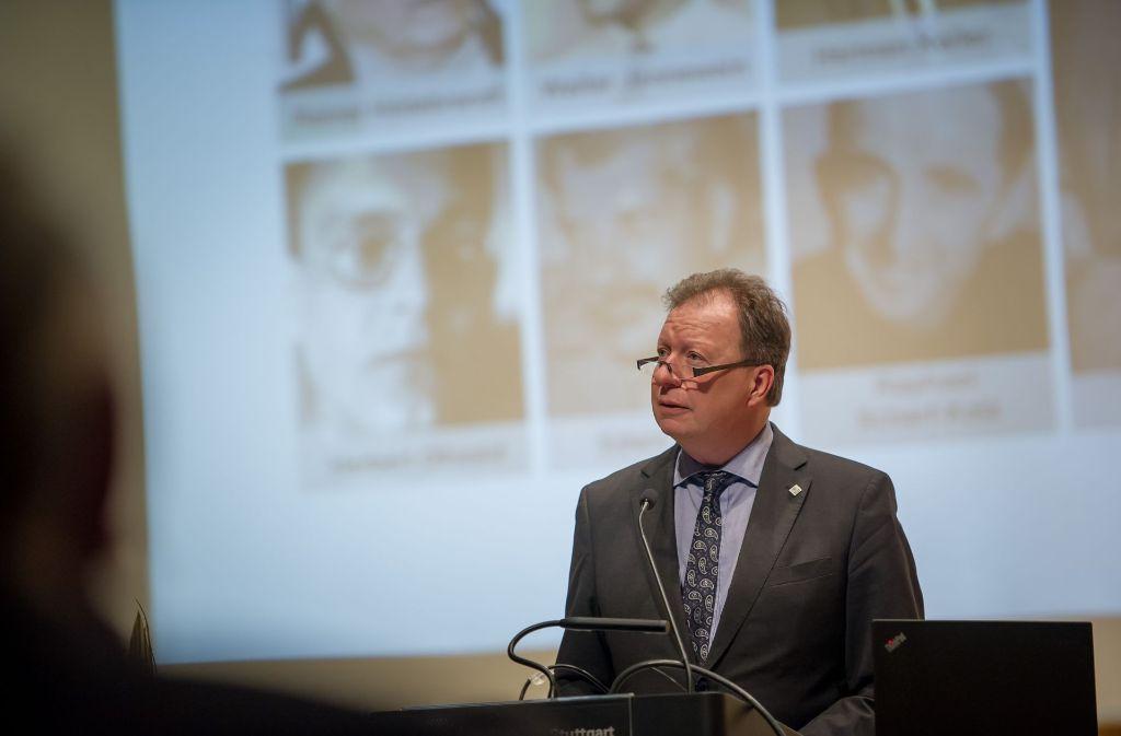 Entschuldigung für begangenes Unrecht an der Uni Stuttgart: Rektor Wolfram Ressel Foto: Lichtgut/Max Kovalenko