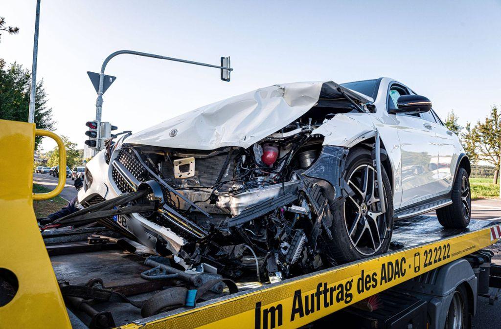 Die 18-Jährige Fahrerin war in einem weißen Mercedes unterwegs. Foto: /7aktuell.de/Marc Gruber