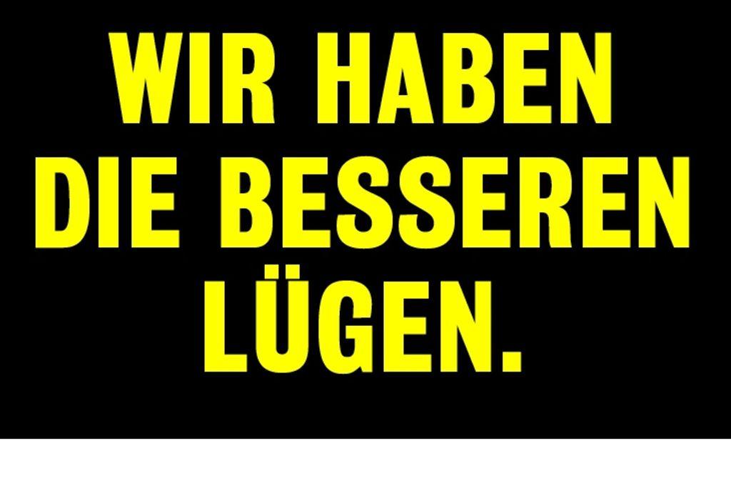 Im Zeichen der Lüge: Werbung für den Stuttgarter Filmwinter. Foto: FW