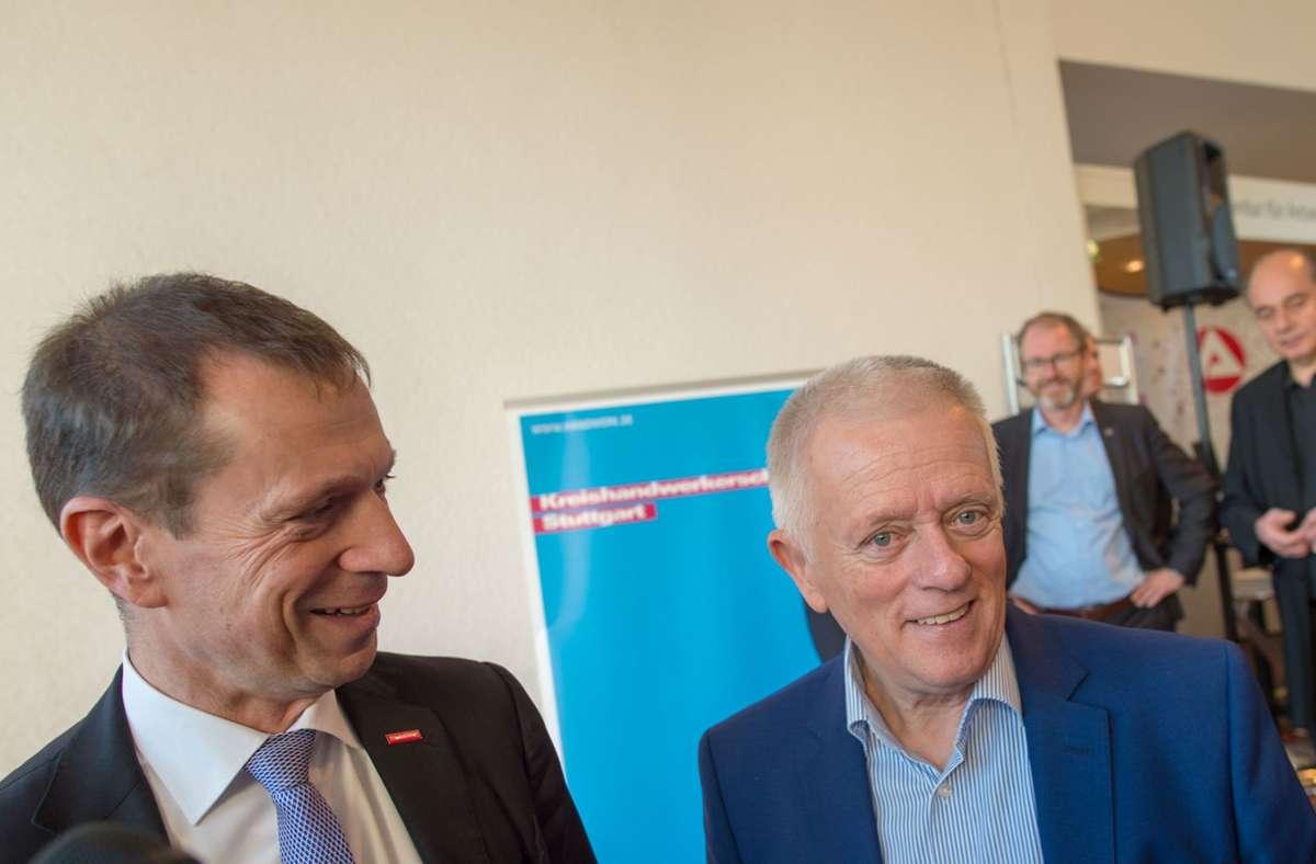 Das Verhältnis von Alexander Kotz (li) und OB Fritz Kuhn ist derzeit nicht so harmonisch wie auf diesem Bild. Foto: /Lichtgut/Leif Piechowski