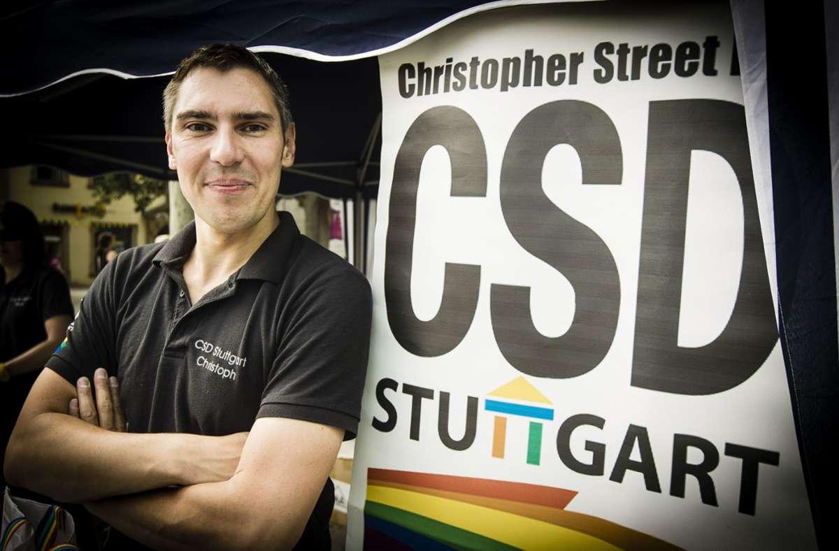 CSD-Organisator Christoph Michl übt scharfe Kritik an dem Tübinger OB Boris Palmer. Foto: Lichtgut/Leif Piechowski