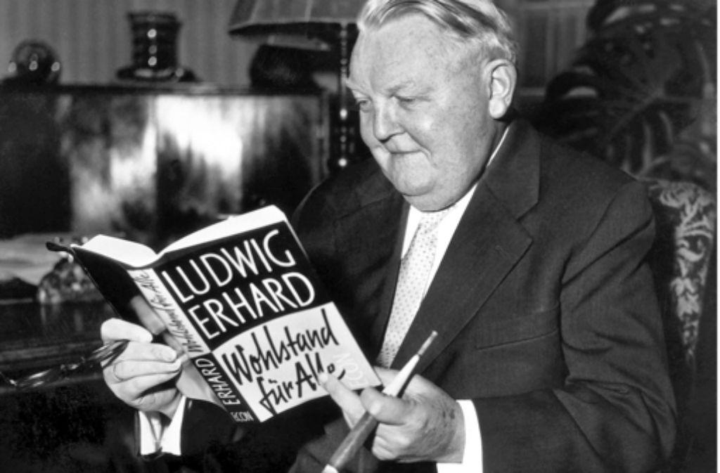 Ludwig Erhard wollte Wohlstand für alle, nicht Bereicherung für wenige. Foto: obs