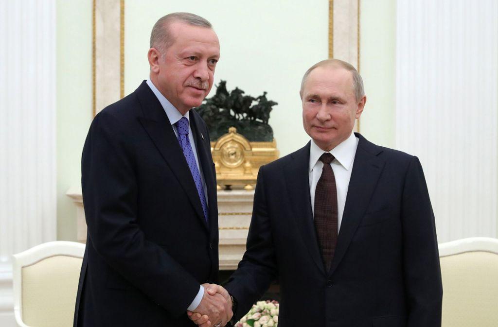 Russland und die Türkei vereinbaren Waffenruhe für Idlib. Foto: AP/Mikhail Klimentyev