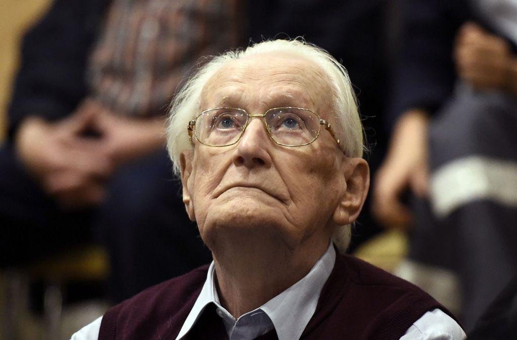 Der frühere SS-Mann Oskar Gröning im Gericht. Foto: AFP