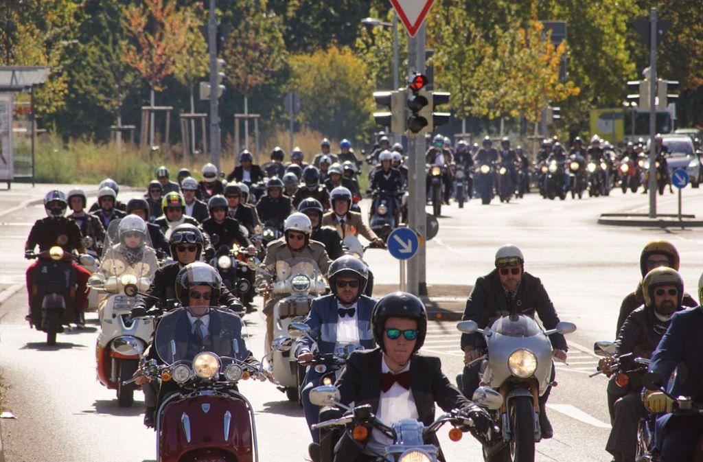 Hunderte Motorradfahrer waren am Sonntag in Stuttgart unterwegs. Foto: Andreas Rosar Fotoagentur-Stutt