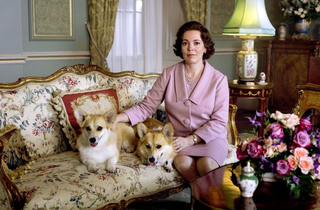 Palastleben: Olivia Colman als königliche Hundefreundin Elizabeth II. Foto: Sophie Mutevelian