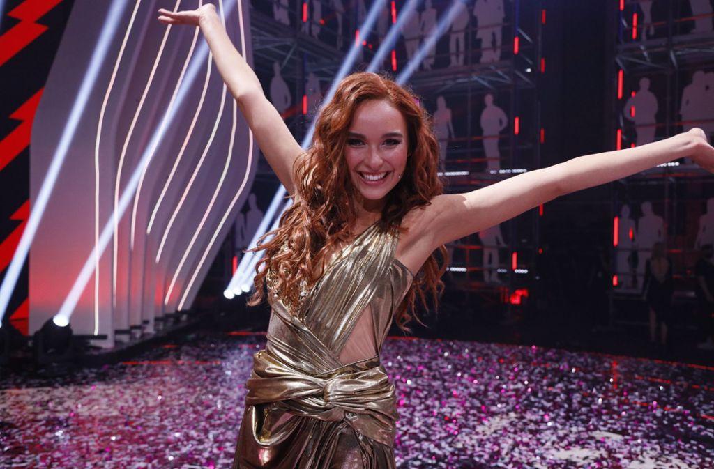 Jacky aus Wiesbaden gewinnt bei Germany's Next Topmodel. Foto: dpa/Richard Hübner