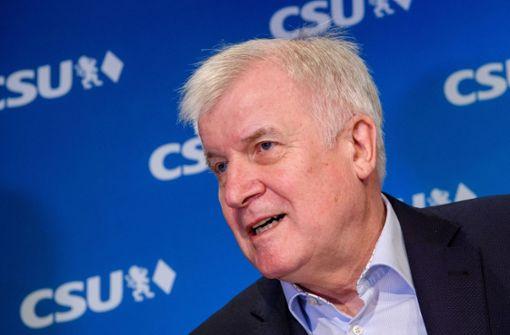 Horst Seehofer tritt im Januar als Partei-Chef zurück