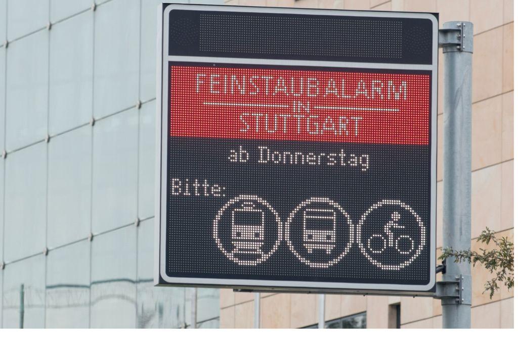 Ab Donnerstag gilt wieder Feinstaubalarm in Stuttgart. Foto: dpa
