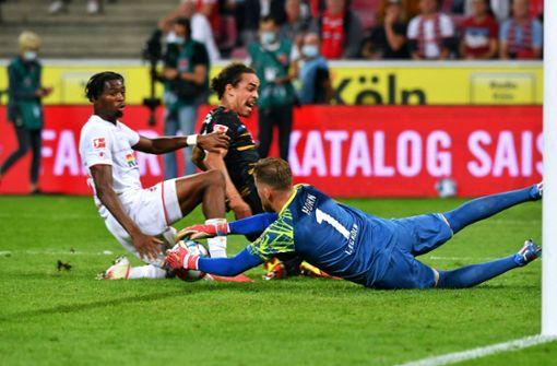 Spiel der aberkannten Tore:RB Leipzig vermeidet nächste Niederlage