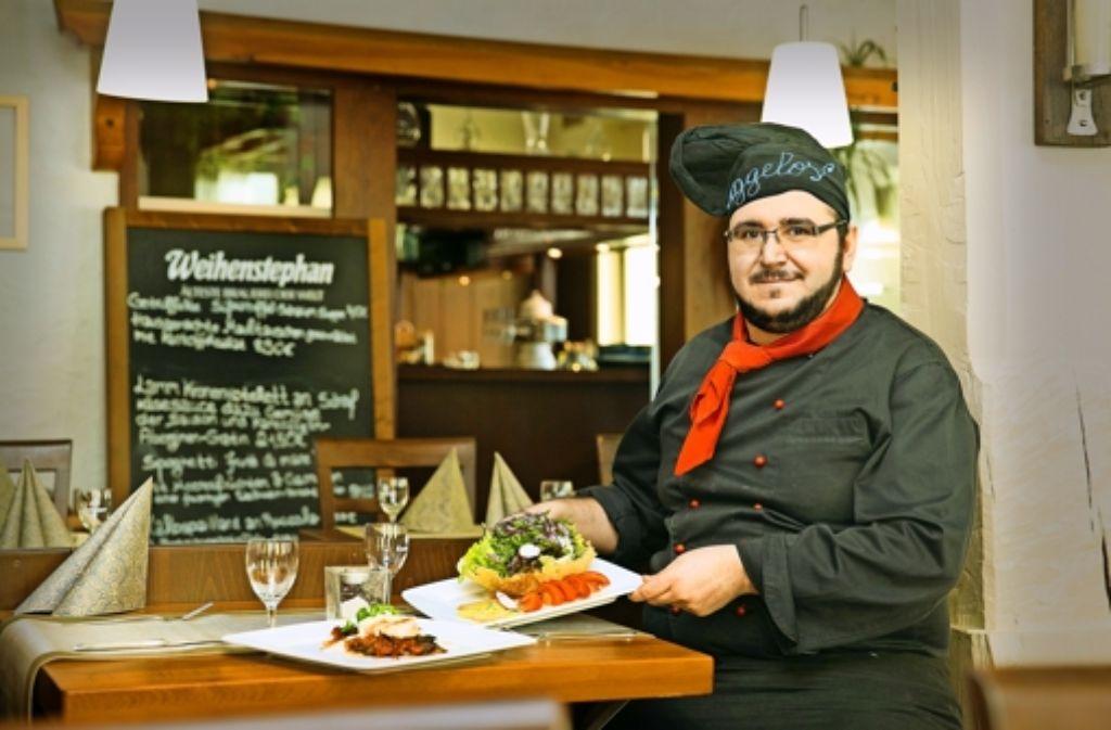 Angelos Vasiliadis kocht im Ev Zin für Auge und Gaumen. Foto: Horst Rudel
