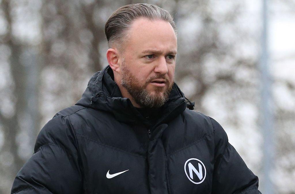 Meister-Trainer mit Normannia Gmünd: Trainer Holger Traub. Foto: Baumann