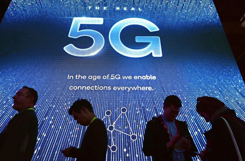 In Barcelona steht beim Mobile World Congress die 5G-Mobilfunktechnologie im Fokus.Foto:AFP Foto: