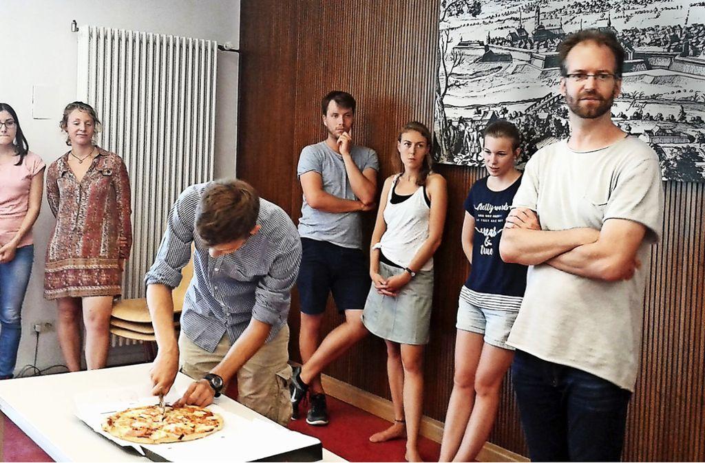 Nicht ums Essen, sondern um die Geometrie geht es Martin Kramer und seinen Studenten. Foto: Allgöwer