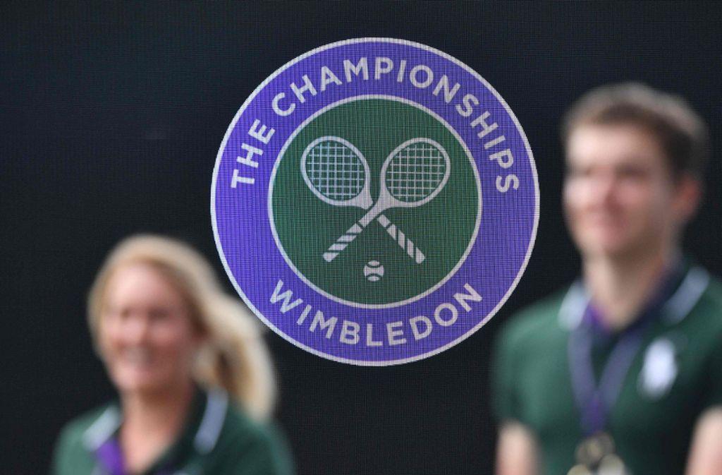 Auch das Tennisturnier in Wimbledon fällt wegen des Coronavirus aus. (Symbolbild) Foto: AFP/DANIEL LEAL-OLIVAS