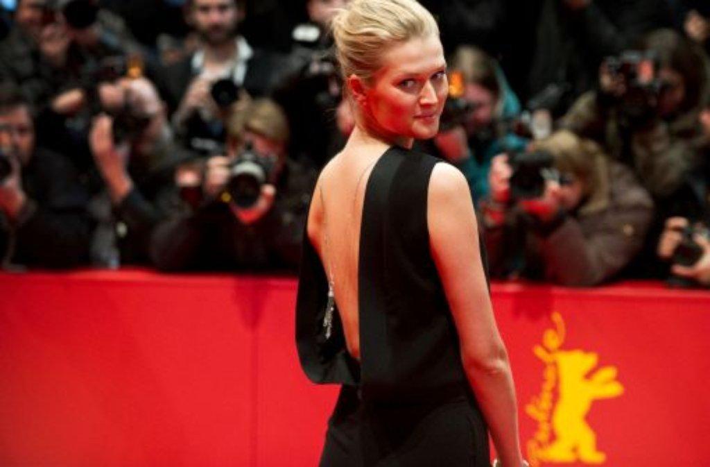 Das Topmodel Toni Garrn feiert ebenso mit den Hollywood-Stars wie ... Foto: dpa
