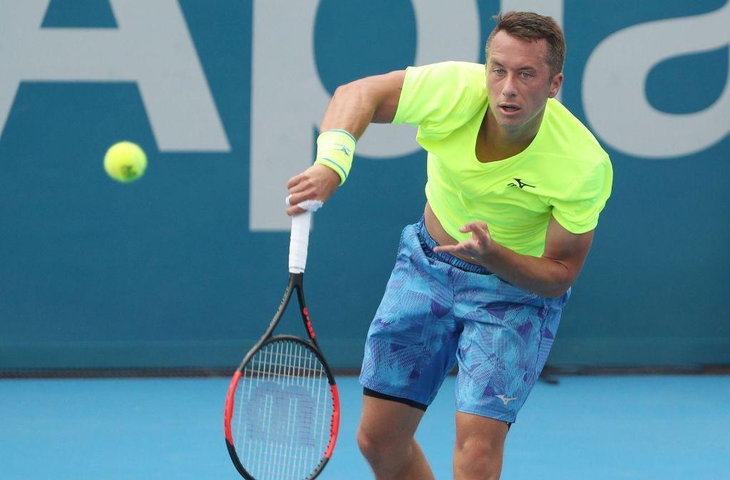 Philipp Kohlschreiber hat beim Tennisturnier in Sydney das Viertelfinale erreicht. Foto: AFP