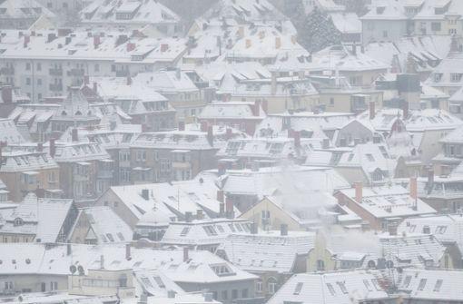 Auch in Stuttgart liegt jetzt Schnee