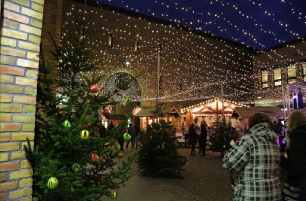 15000 LED-Lichter sorgen im Rathaushof für Atmosphäre. Foto: Sigerist