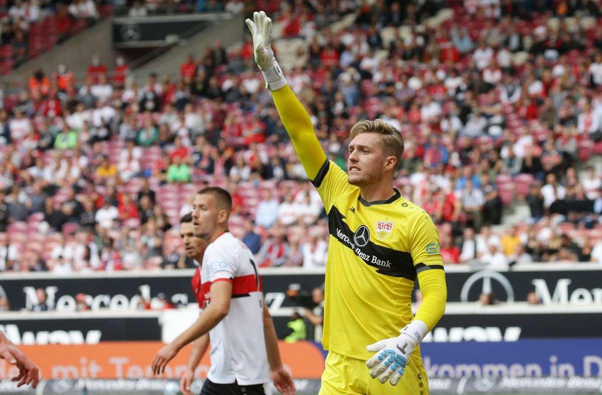 Florian Müller war dem VfB ein sicherer Rückhalt in Bochum (Symbolbild). Foto: Pressefoto Baumann/Hansjürgen Britsch