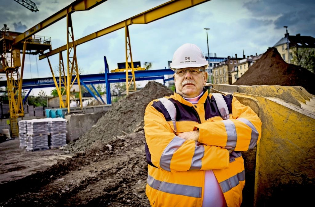 Wolf-Dieter Tigges ist Chef der Zentralen Baulogistik bei S21. Foto: Lichtgut/Max Kovalenko