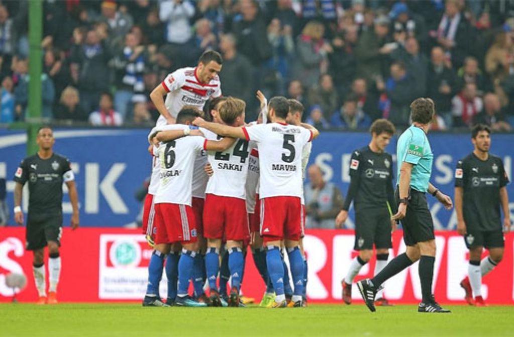 Der VfB Stuttgart hat beim HSV mit 1:3 verloren. Foto: Pressefoto Baumann