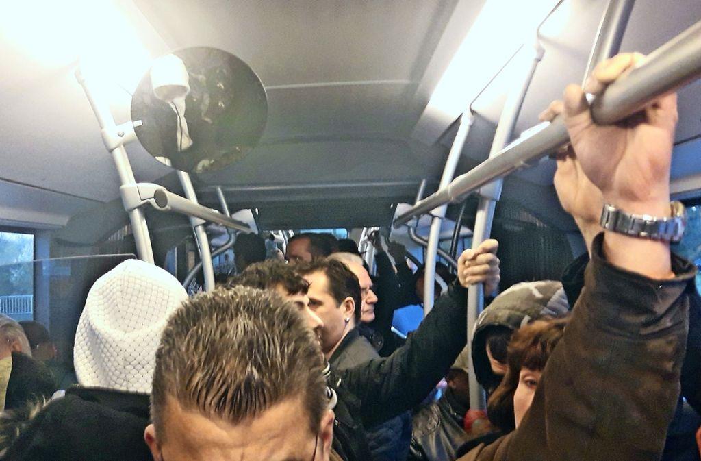 Momentaufnahme aus dem Bus der Linie 501 am Mittwoch auf der Fahrt von  Korntal nach Schwieberdingen. Foto: privat