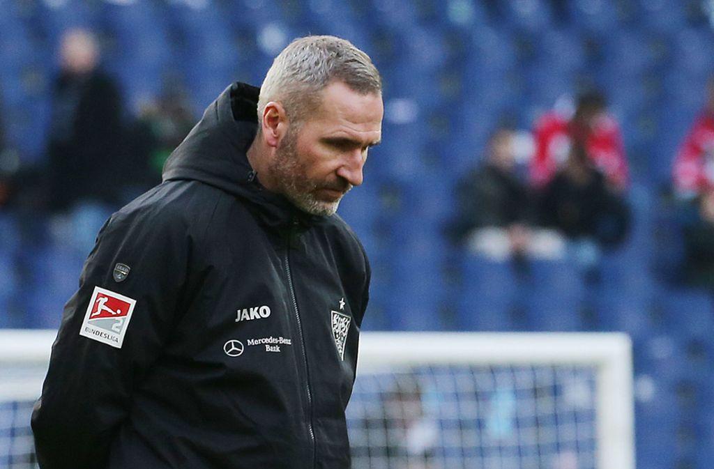 Enttäuschter Ex-Coach: Tim Walters Idee vom Fußball hat sich beim VfB Stuttgart nicht erfolgreich umsetzen lassen. Foto: Baumann