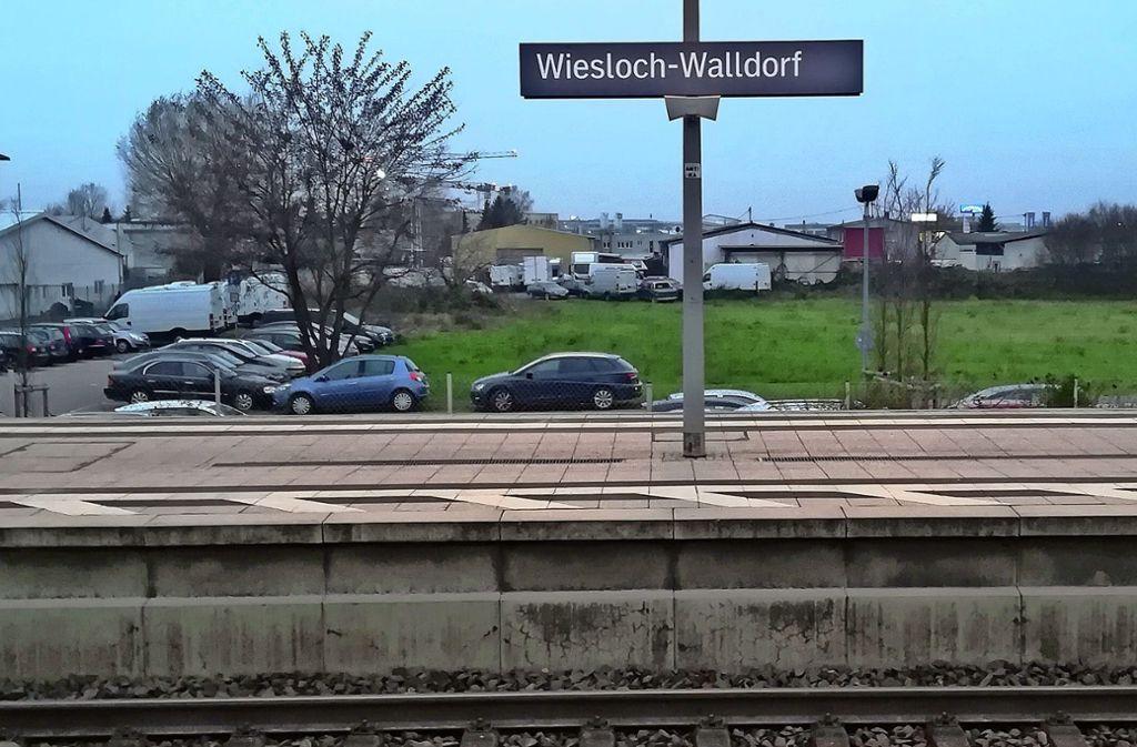 Rund um den gemeinsamen Bahnhof entwickeln die beiden Städte den Metropolpark Wiesloch-Walldorf. Foto: Wetzel