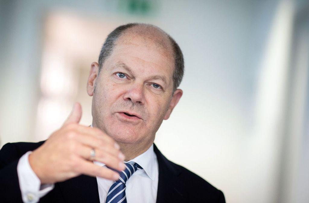 Bundesfinanzminister Olaf Scholz (SPD) (Archivbild) Foto: dpa/Kay Nietfeld