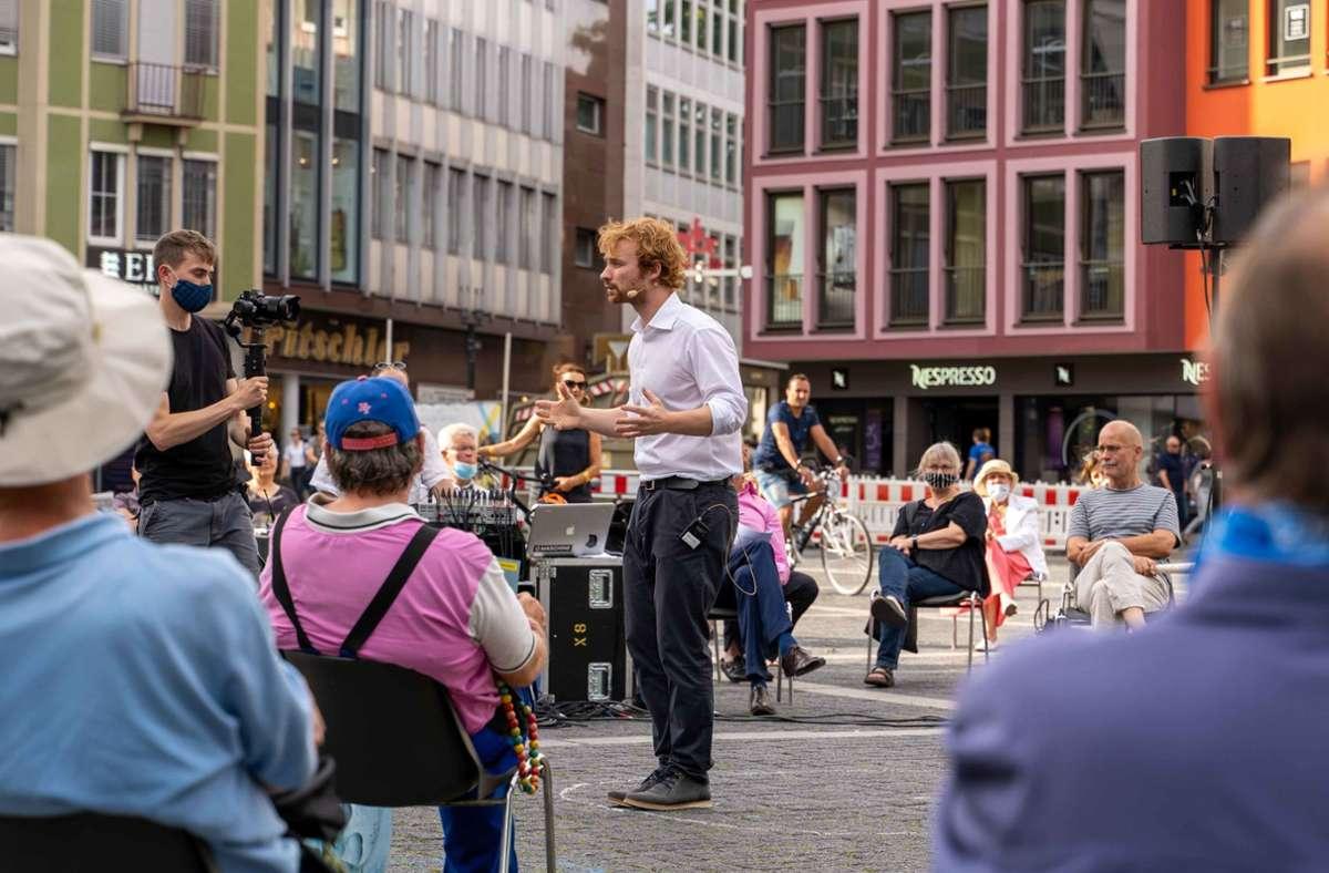 OB-Kandidat Hannes Rockenbauch hat eine Wählerinitiative gegründet. Foto: Lichtgut/Julia Schramm