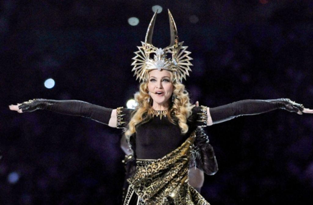 Mit ihrer MDNA Tour soll sie 305 Million Dollar eingenommen haben: Madonna hält die Spitzenposition mit geschätzten 125 Millionen Dollar. Foto: dpa