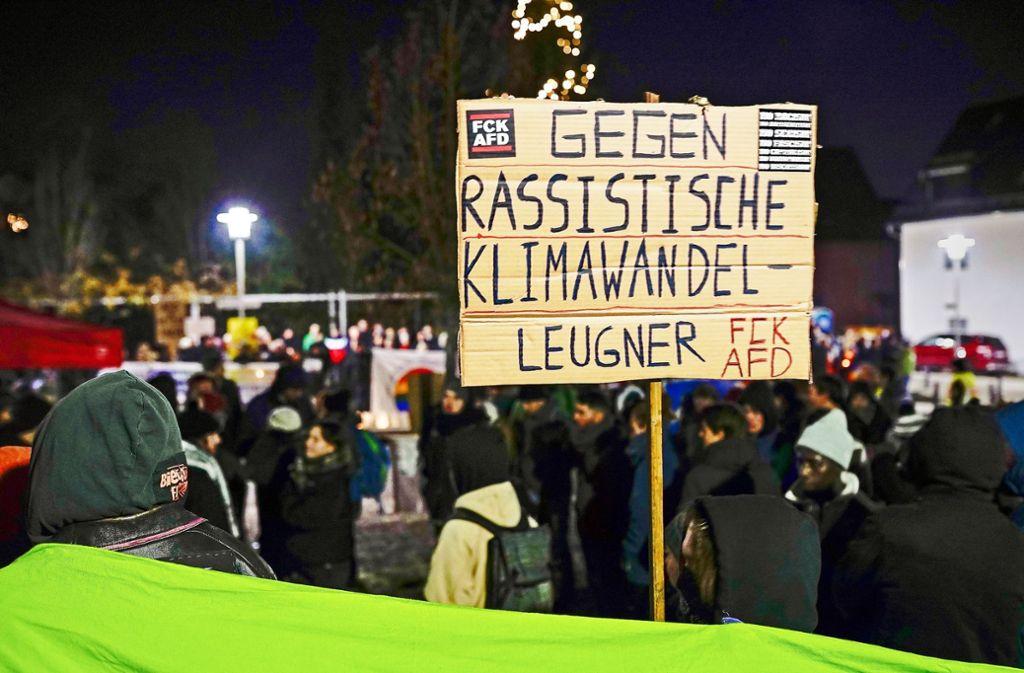 Die Antifa-Aktivisten sind bei der Polizei wie im Dorf unbeliebt. Foto: factum/Jürgen Bach