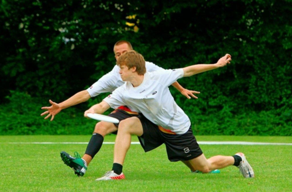 Die Zielgenauigkeit von Philipp Haas (vorne) ist bei der WM gefragt. Foto: Andreas Gorr