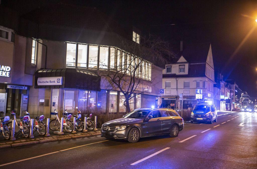 Die Polizei hat möglicherweise geplanten Banküberfall in Stuttgart-Vaihingen verhindert. Foto: 7aktuell.de/Simon Adomat