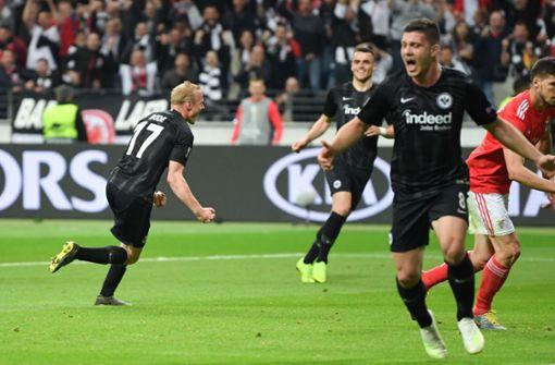 Frankfurt ringt Benfica im Viertelfinale nieder