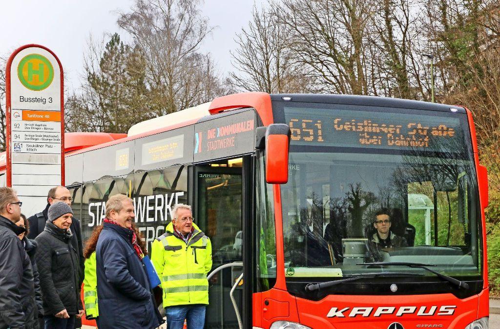 Die Linie 651 der Leonberger Stadtwerke wird in Zukunft auch am Sonntag und an Feiertagen von der Kernstadt nach Höfingen und zurück fahren. Foto: factum/Granville