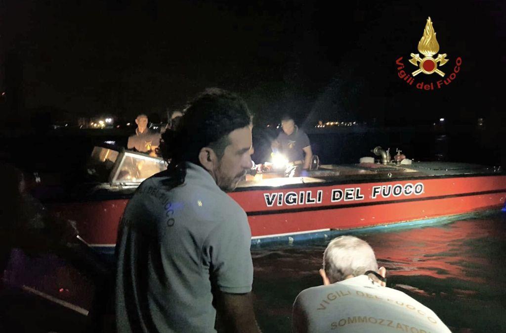 Bei zwei Bootsunglücken in Venedig sind innerhalb weniger Stunden drei Menschen ums Leben gekommen. Foto: Vigili del Fuoco