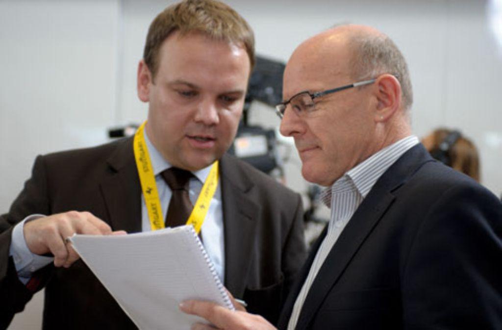 Ingo Rust (links) und Winfried Hermann Foto: dapd