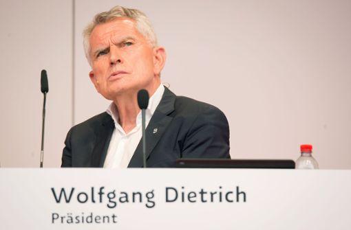 Keine Entlastung für Ex-Präsident Wolfgang Dietrich