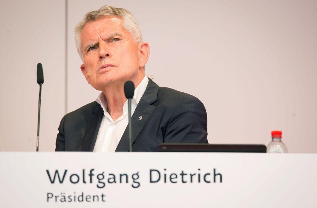 Der ehemalige VfB-Präsident Wolfgang Dietrich wurde nicht entlastet. (Archivbild) Foto: picture alliance/dpa/Christoph Schmidt