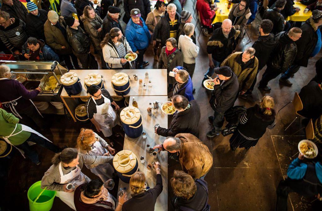 Die Vesperkirche endet an diesem Samstag nach sieben Wochen. Foto: Lichtgut/Schmidt