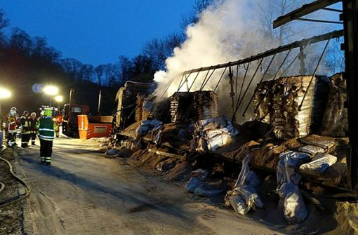 Lkw brennt auf Honauer Steige aus