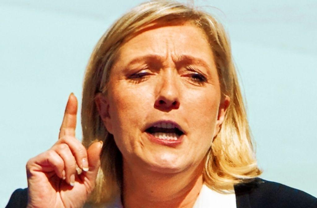 Die Rechtspopulistin Marine Le Pen schart die Enttäuschten aller Lager um sich. Foto: dpa