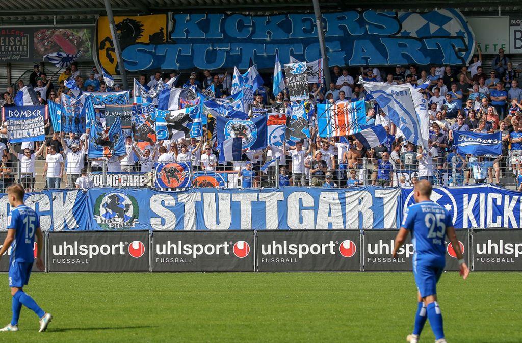 Die Fans der Blauen werden künftig nicht mehr von der Schräglage bedient. Foto: Pressefoto Baumann/Alexander Keppler